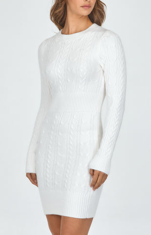 SOGNA CO KNIT MINI DRESS WITH DEATILS
