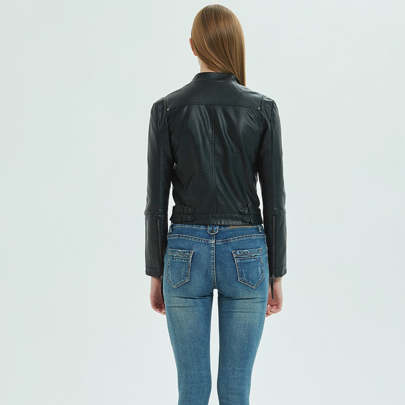 SOGNA COL World Faux Leather Biker Jacket