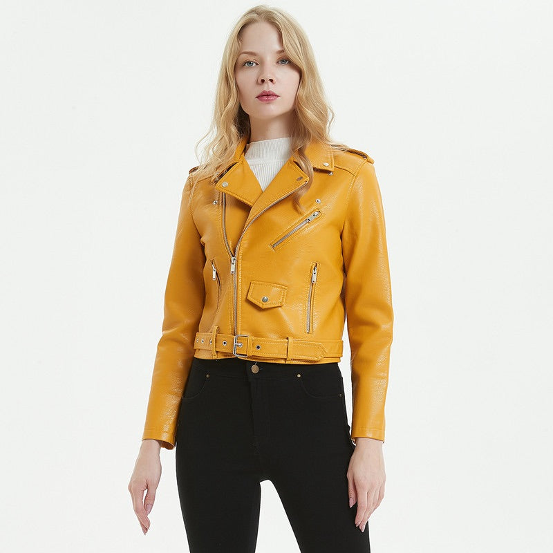 Gemma one Faux-Leather Biker Jacket