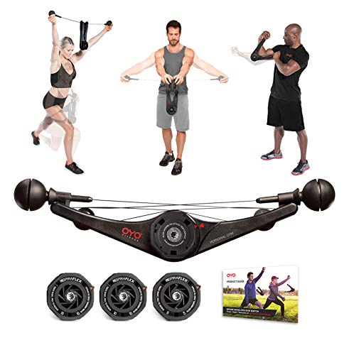 OYO Personal Gym Basic - Full Body Portable Gym Equipment Set for Exercise at Home, Office or Travel - SpiraFlex Strength Training Fitness Technology - NASA Technology
