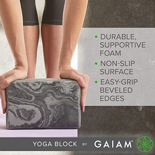Gaiam Yoga Block - Supportive Latex-Free EVA Foam Soft Non-Slip Surface for Yoga, Pilates, Meditation, Apple Green