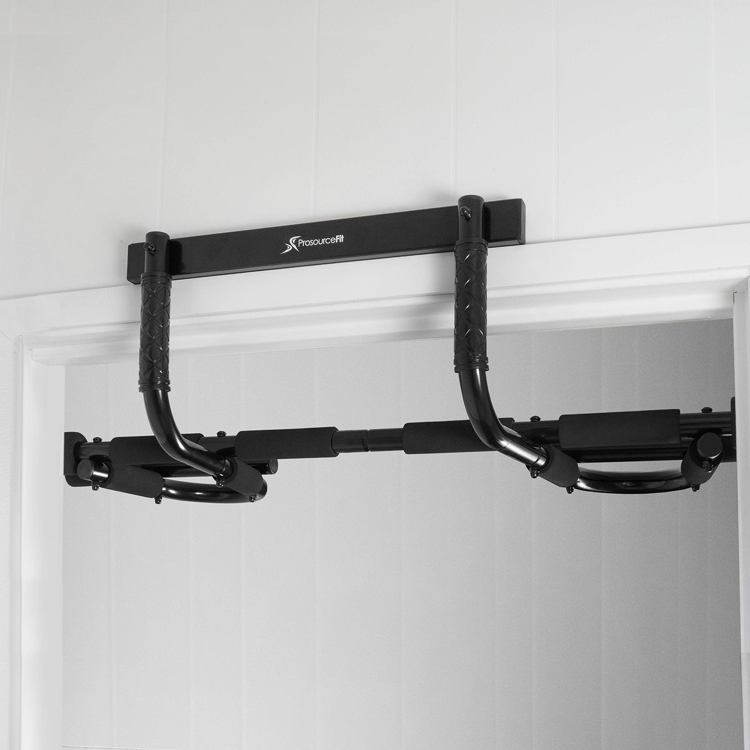 Prosource Fit Multi-Grip Chin-Up/Pull-Up Bar, Heavy Duty Doorway Trainer for Home Gym