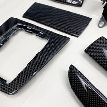 Load image into Gallery viewer, B6/B7 Audi A4/S4/RS4 plain weave carbon fiber interior trim set