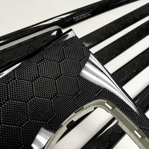 B5 Audi A4/S4 honeycomb carbon fiber interior trim set