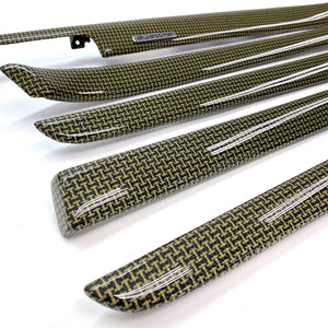B6/B7 Audi A4 / S4 / RS4 yellow kevlar bone carbon fiber interior trim set