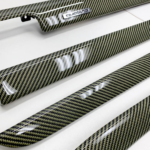 B6/B7 Audi A4/S4 yellow kevlar carbon fiber interior trim set