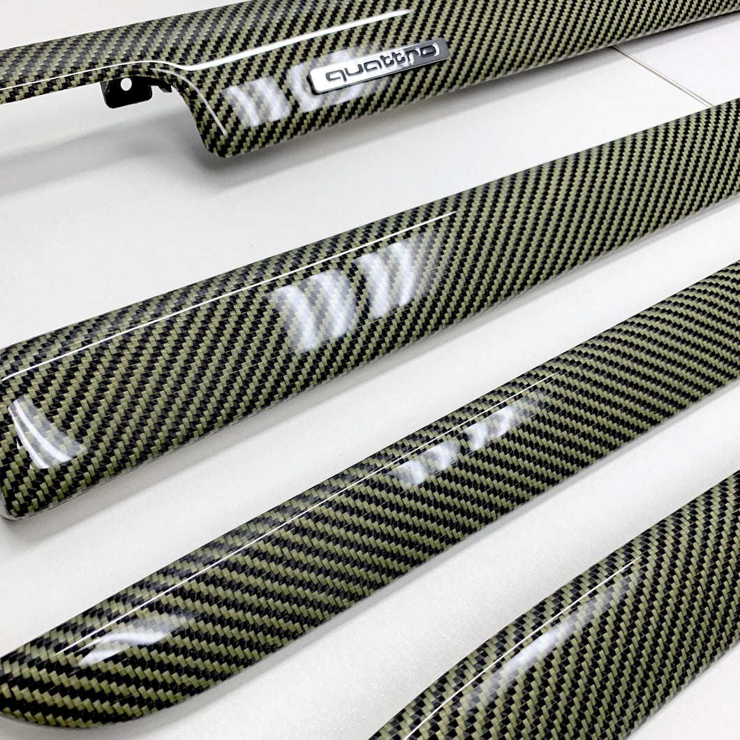 B6/B7 Audi A4/S4/RS4 yellow kevlar carbon fiber interior trim set