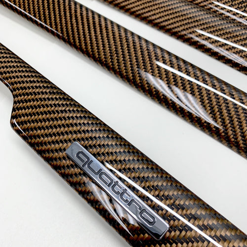 B5 Audi A4/S4 copper carbon fiber interior trim set