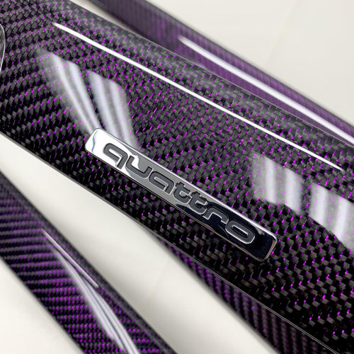 B6/B7 Audi A4 / S4 / RS4 purple reflex carbon fiber interior trim set