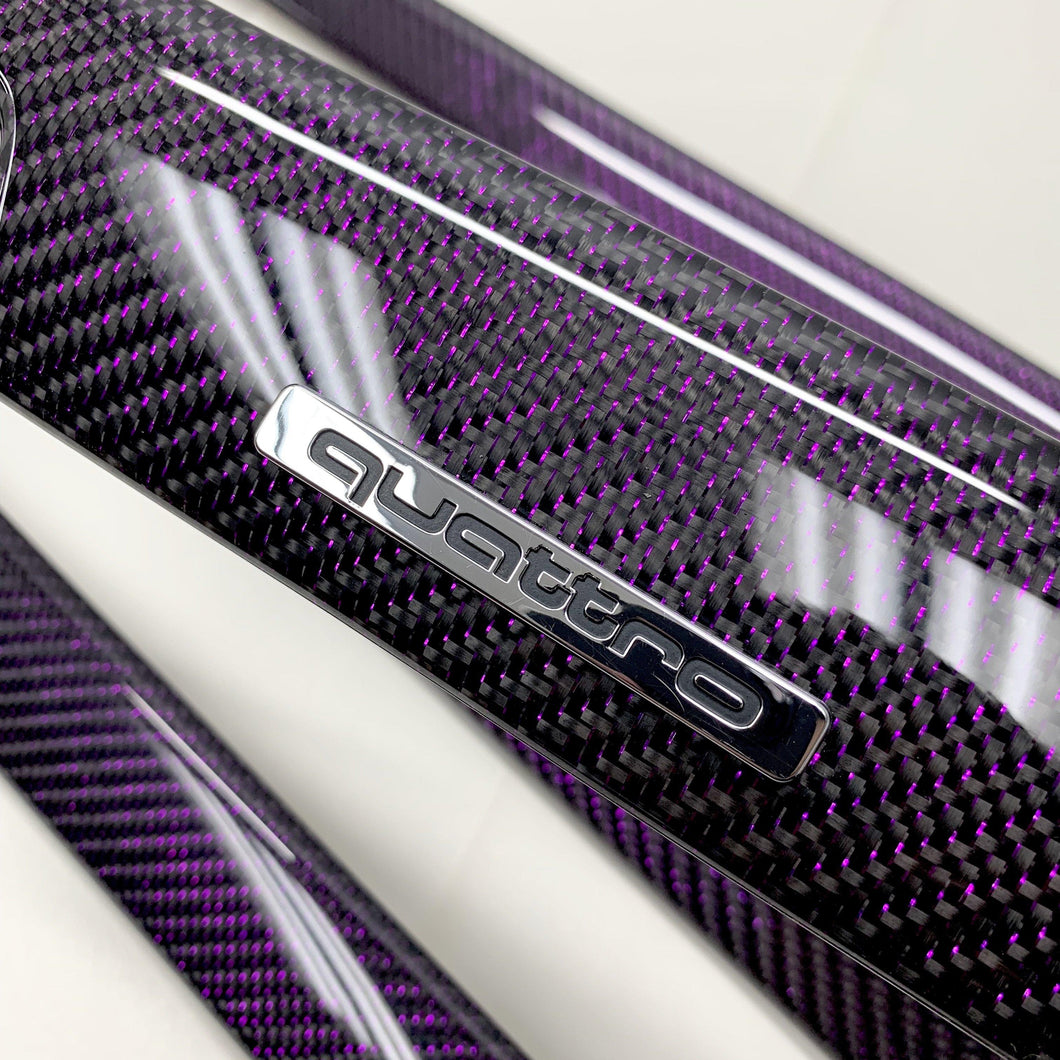 B6/B7 Audi A4/S4/RS4 purple reflex carbon fiber interior trim set