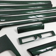 Load image into Gallery viewer, B5 Audi A4 / S4 / RS4 reflex green carbon fiber interior trim set