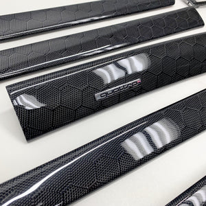 C5 Audi A6/S6 black honeycomb carbon fiber interior trim set