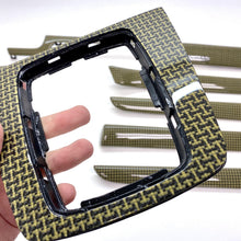 Load image into Gallery viewer, B6/B7 Audi A4 / S4 / RS4 yellow kevlar bone carbon fiber interior trim set