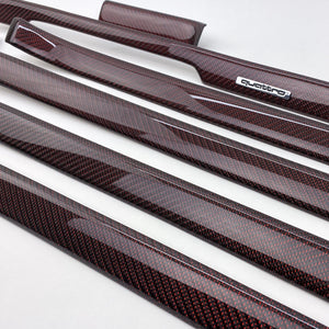 B5 Audi A4 / S4 / RS4 reflex red carbon fiber interior trim set