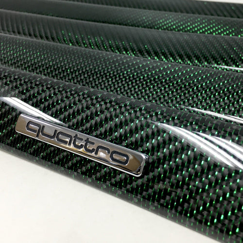 B5 Audi A4 / S4 / RS4 reflex green carbon fiber interior trim set