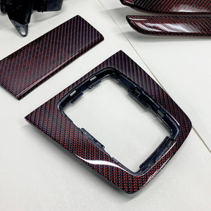 B6/B7 Audi A4 / S4 / RS4 red reflex carbon fiber interior trim set