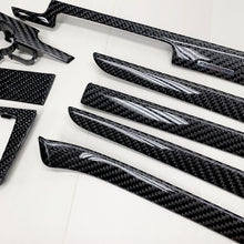 Load image into Gallery viewer, B6/B7 Audi A4/S4/RS4 black 2x2 twill 24k carbon fiber interior trim set