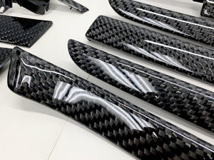 B6/B7 Audi A4/S4/RS4 black 2x2 twill 24k carbon fiber interior trim set