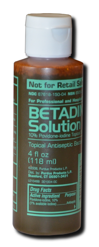 Betadine:  (Small - 4 oz)