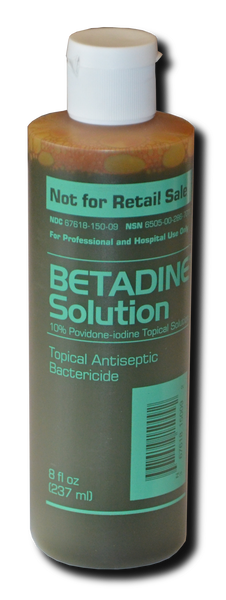 Betadine:  (Medium - 8 oz)