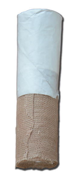 "Bandaging:  Brown Gauze Rolls - 4"" Wide"