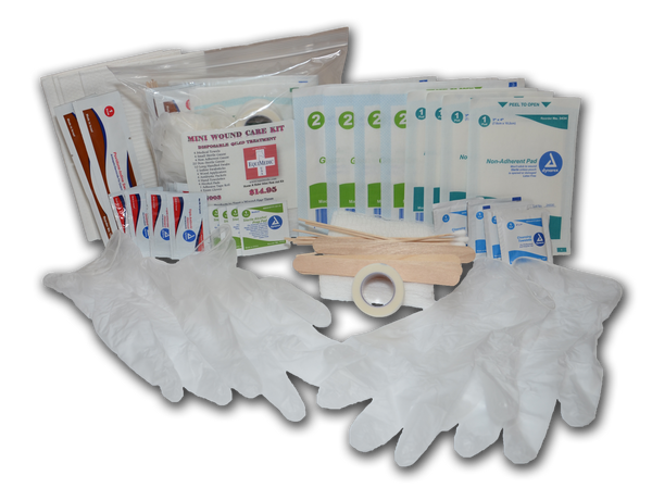 Large - Quad Treatment Wound Care Kit