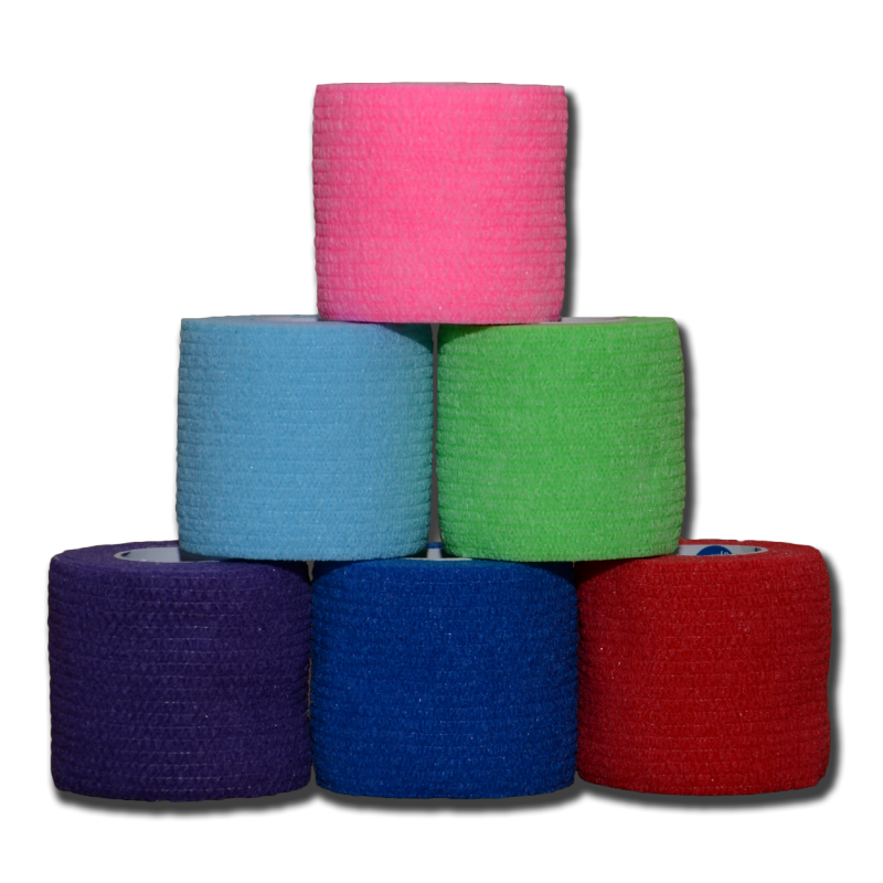 Bandaging:  Cohesive Bandage Wrap: 2 inch Wide - Assorted Colors
