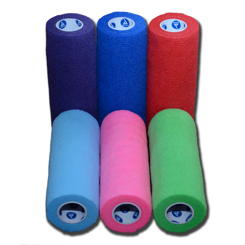 Bandagaing:  Cohesive Bandage Wrap: 6 inch Wide - Assorted Colors