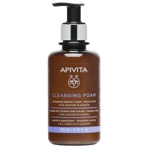 Apivita Cleansing Creamy Foam, Face & Eyes, 200ml