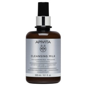 Apivita 3 in 1 Face & Eyes Cleansing Milk 300ml