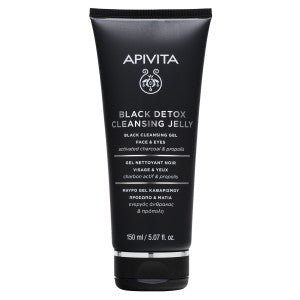 Apivita Black Cleansing Gel - Face & Eyes 150ml