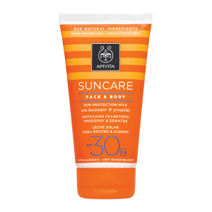 Apivita Sun Protection Face & Body Milk SPF 30 - High Protection