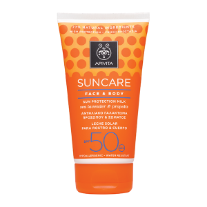 Apivita Sun Face & Body Milk SPF 50 - High Protection
