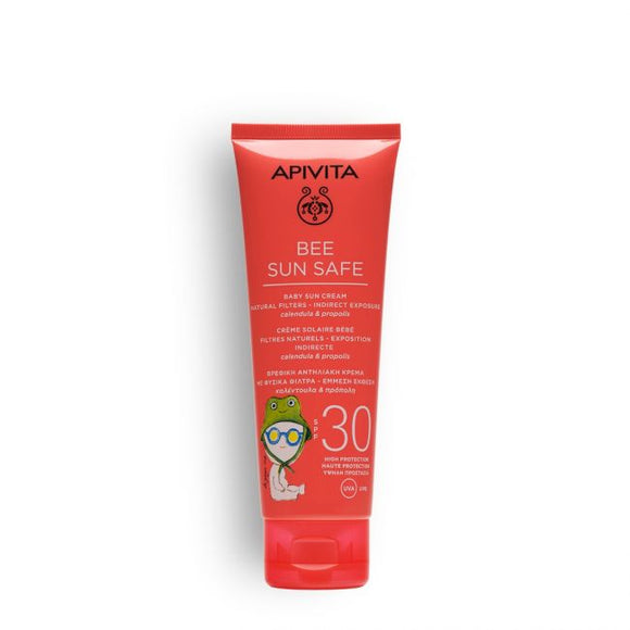 Apivita Baby Sun Cream Natural Filters - Indirect Exposure SPF30, 100ml