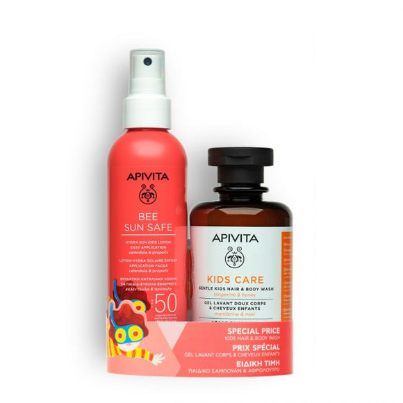 Apivita Hydra Sun Kids Lotion SPF50, 200ml + Hair & Body Wash 250ml