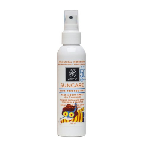 Apivita Kids Protection Face & Body Spray SPF 50 + Kids BackPack FREE