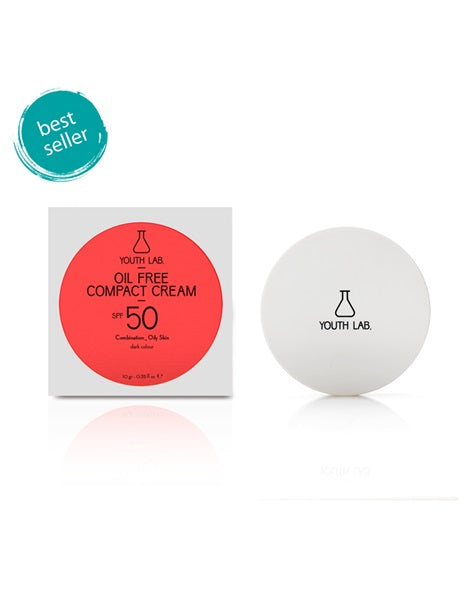 Youth Lab - Oil Free Compact Cream SPF 50 (Combination / Oily Skin - Dark Color) 10g