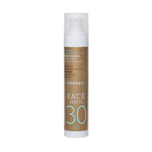 Korres Sunscreen Face Cream Matte, Antiageing & Antispot SPF 30, 50ml