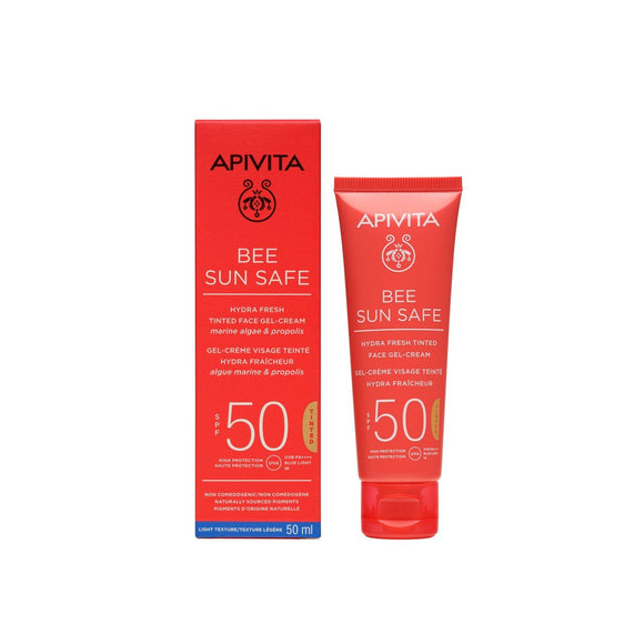 Apivita Hydra Fresh Tinted Face Gel - Cream SPF50