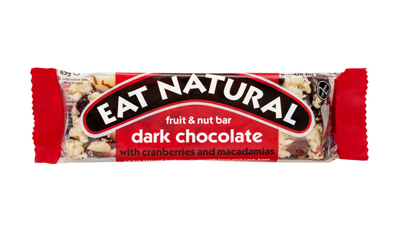 Eat Natural Cranberry & Macademia Dark Choco 50g