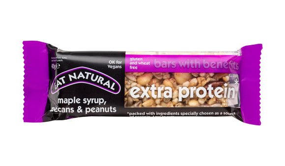 Eat Natural Extra Protein Bar with Maple Syrup, Pecans & Peanuts 45g