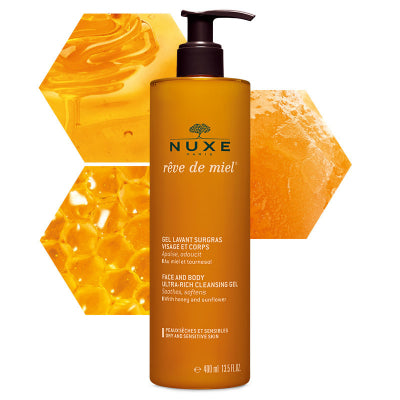 Nuxe Face & Body Ultra-Rich Cleasing Gel Reve De Miel 400ml