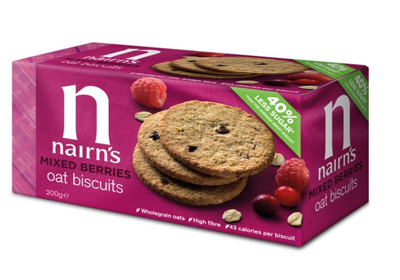 Nairn's Mixed Berries and Oats Biscuit 200g