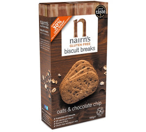 Nairn's Gluten Free Oats & Chocolate Chip Biscuit Breaks 160g