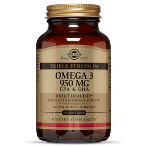Solgar Triple Strength Omega-3, 950mg, 50 Softgels