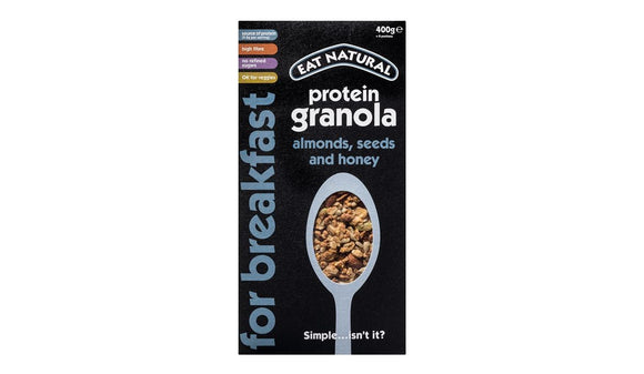 Eat Natural Protein Granola with Almonds, Seeds & Honey 400g