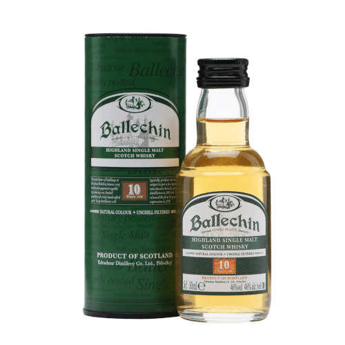 Edradour Ballechin 10 yr Single Malt Scotch Whisky Miniature - 50ml