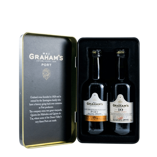 Graham's Port Miniatures Gift Tin 2x 50ml