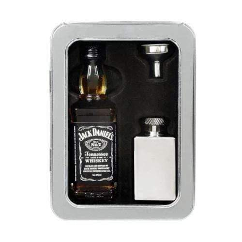 Jack Daniels 50ml Miniature & Hip Flask Gift Tin