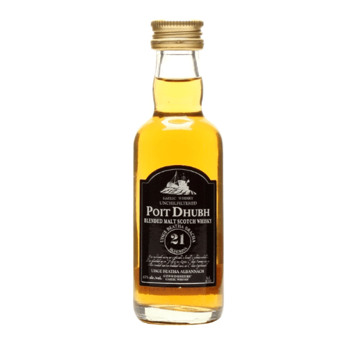 Poit Dhubh 21 year Gaelic Blended Malt Scotch Whisky Miniature - 50ml